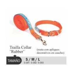 Trailla collar Rubber, L.
